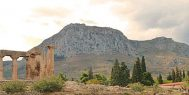 Riding to Akrocorinth on and ExperiencePlus! Bicycle Tour in Greece.