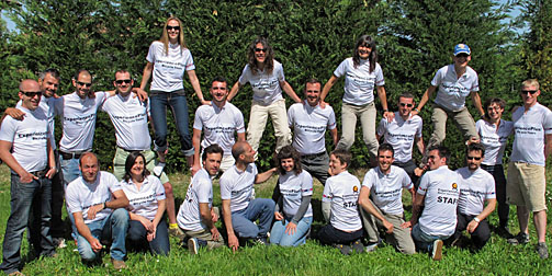 European Staff at the ExperiencePlus! Headquarters in Italy