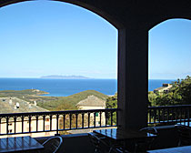 The view from the hotel U Sant' Agnellu in Corsica with ExperiencePlus!.