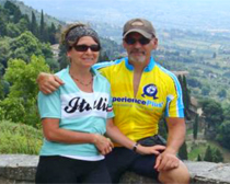 Cheri and JR Meda cycling across Italy with ExperiencePlus! Bicycle Tours