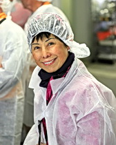 Shirley tours a sausage factory in Catalonia