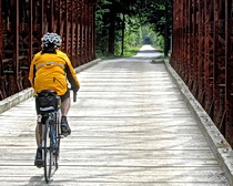 Bridge along the bike path riding with ExperiencePlus! in Slovenia. Photo by travelers Don and Jane Volta