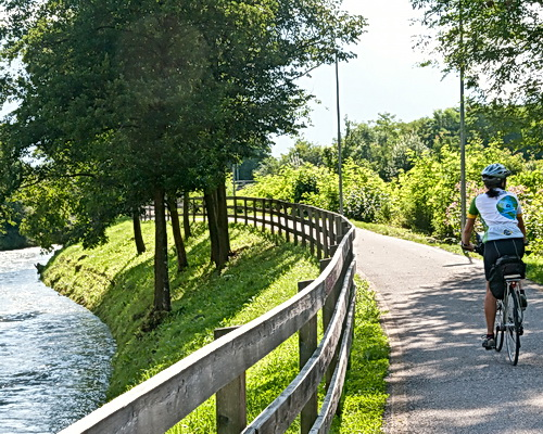 Bike paths on Sightseer tours by ExperiencePlus!
