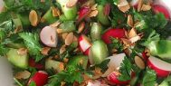 Cucumber, Radish and Parsley Salad