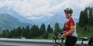 ExperiencePlus! cyclist in the Dolomites